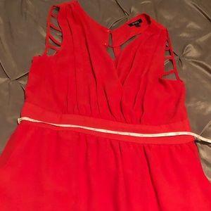 Coral low cut Dress size 9/10.